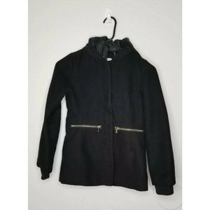 Jessica Simpson Black Coat Hoodie Girl Jacket